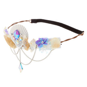 Light Up Mermaid Seashell Crown Headwrap,