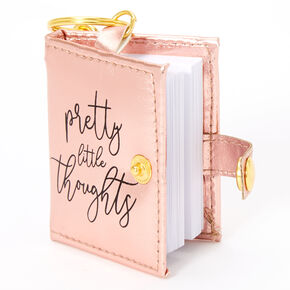 Pretty Little Thoughts Mini Diary Keychain - Pink,