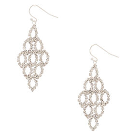 "2"" Rhinestone Chandelier Drop Earrings,"