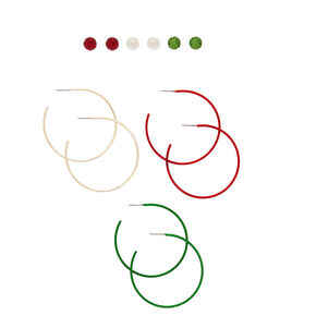 Holiday Mixed Earrings - 6 Pack,