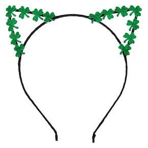 Shamrock Cat Ears Headband - Green,
