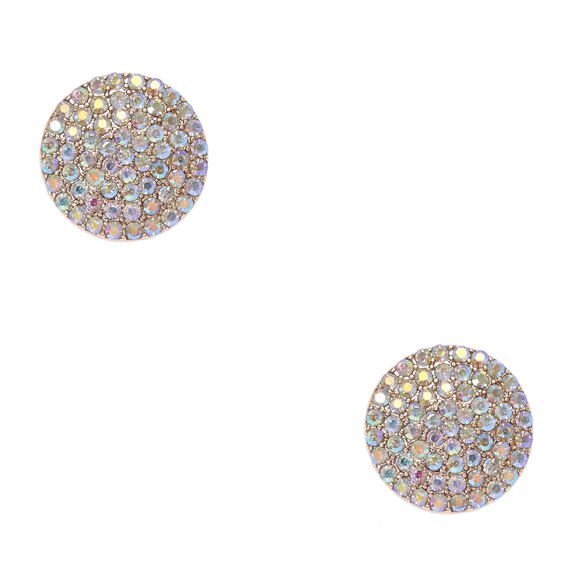 cubic context earrings rose stud silver large gold zirconia p