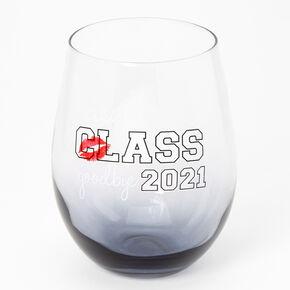 Class of 2021 Graduation Wine Glass - Grey,
