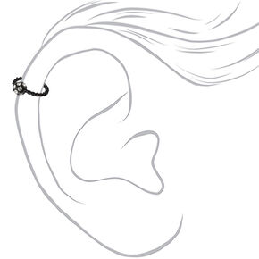 16G Fireball Twisted Helix Hoop Earring - Black,