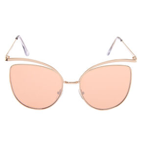 Mod Cat Eye Sunglasses - Rose Gold,