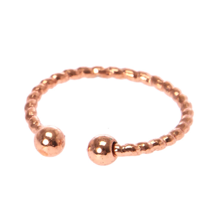 Laser Cut Rose Gold Faux Lip Ring,