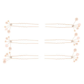 Rose Gold Pearl Hair Pin,