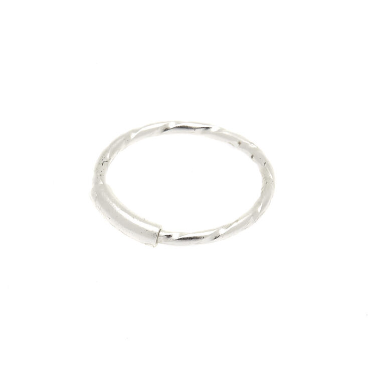 Sterling Silver 22G Twist Nose Ring,