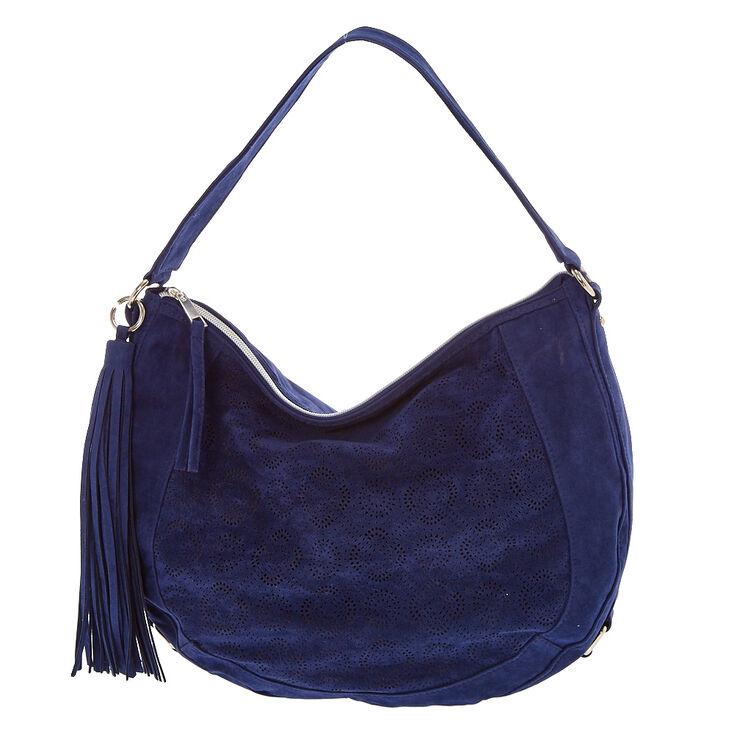 Blue Hobo Messenger Bag,