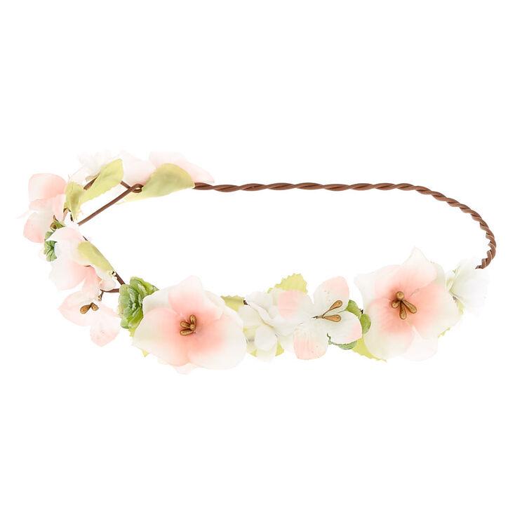Pastel Flower Crown Headwrap - Pink,