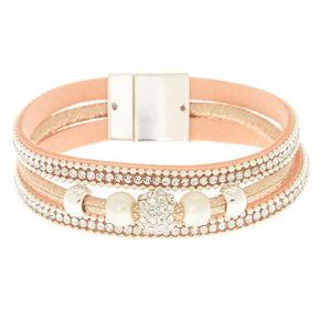 Pink Studded Wrap Bracelet,
