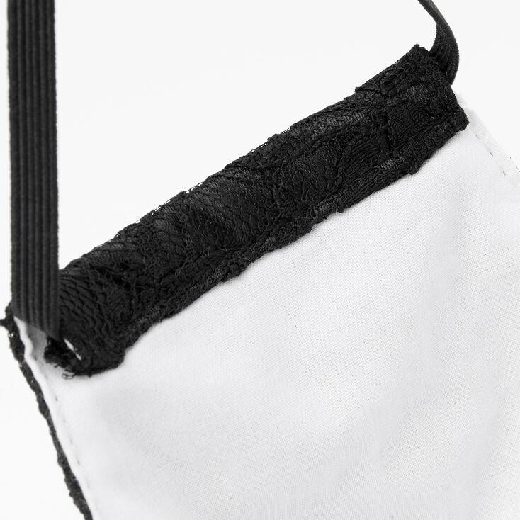 Black Lace Cloth Face Mask - Adult,