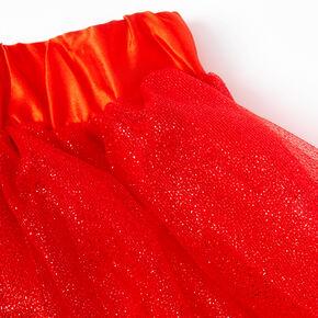 Santa Holiday Skirt - Red,