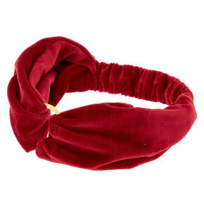 Velvet Ring Headwrap - Burgandy,