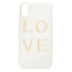 White Shimmer Love Phone Case - Fits iPhone X/XS,