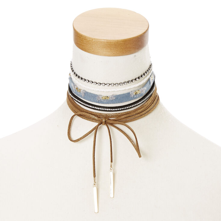 Western Cowgirl Assorted Choker Necklaces,