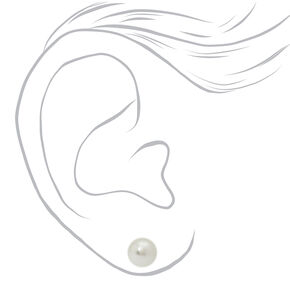 Silver Pearl Stud Earrings & Hair Clips - 4 Pack,