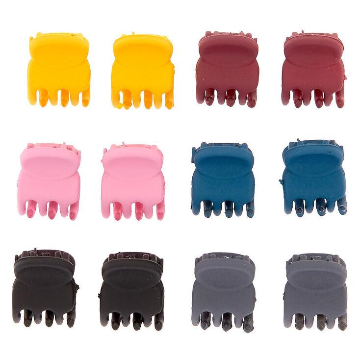 Fall Matte Mini Hair Claws - 12 Pack,