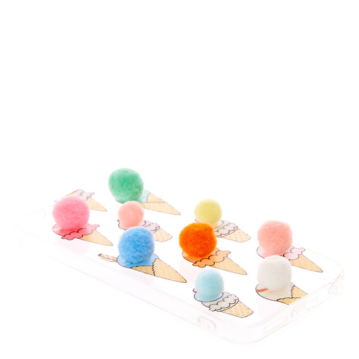Pom Pom Ice Cream Phone Case,