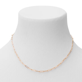Gold Small Link Chain Necklace,