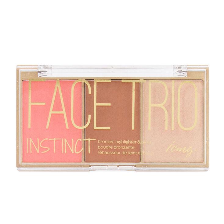 Instinct Bronzer, Highlighter & Blush Face Trio Palette,