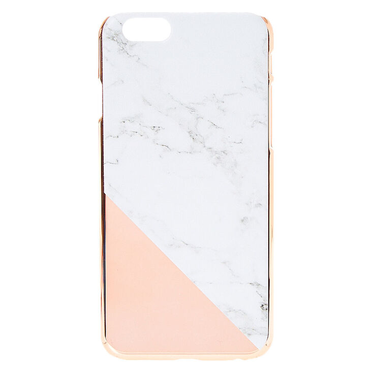 wholesale dealer 86d9d 84e4f Rose Gold & Marble Phone Case
