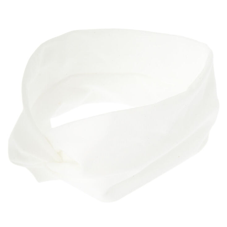 Twisted Headwrap - White,