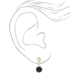 Mixed Metal Crystal Marble Mixed Earrings - 9 Pack,