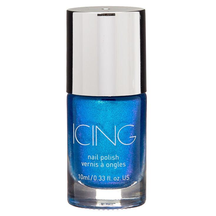 Shimmer Nail Polish - Royal Blue Holo,