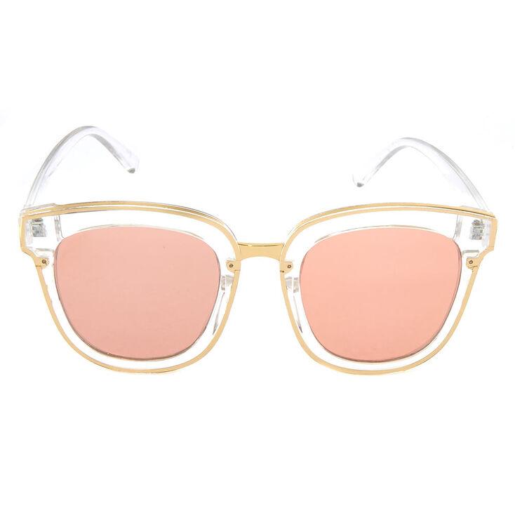 Clear Retro Sunglasses,