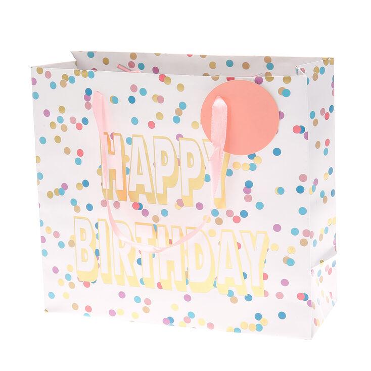 Polka Dot Birthday Gift Bag,