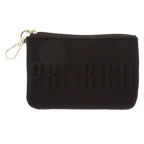 Pre-Rich Zip Coin Purse - Black,