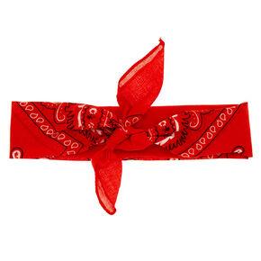 Bandana Print Headwrap - Red,