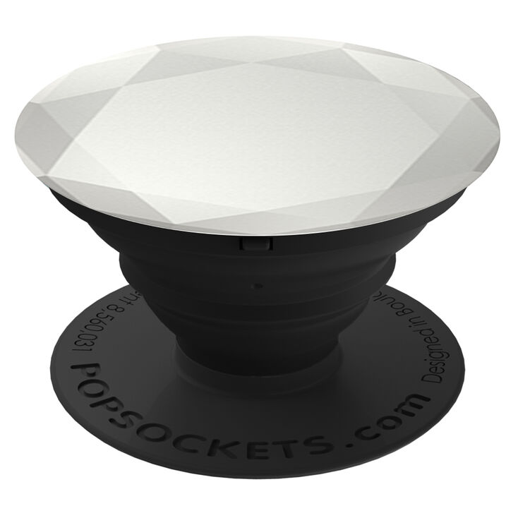 PopSockets PopGrip - Silver Diamond,