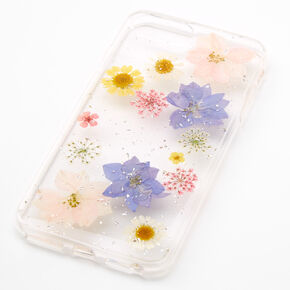Clear Pressed Flower Phone Case - Fits iPhone 6/7/8 Plus,