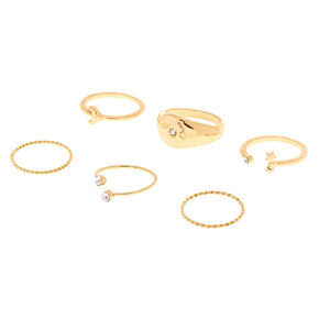 Gold Celestial Rings - 6 Pack,