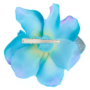 Large Orchid Hair Clip - Blue,
