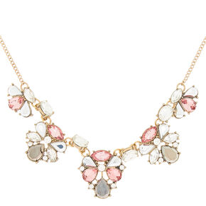 Antique Gold Embellished Statement Necklace,