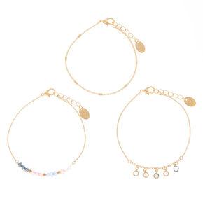 Pastel Shine Chain Bracelets - 3 Pack,