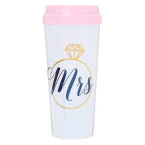 Mrs. Travel Mug - White,