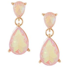 Teardrop Drop Earrings - Peach,