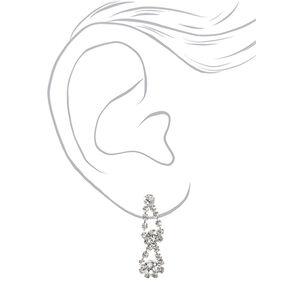 Silver Rhinestone Looped Jewelry Set - 2 Pack,