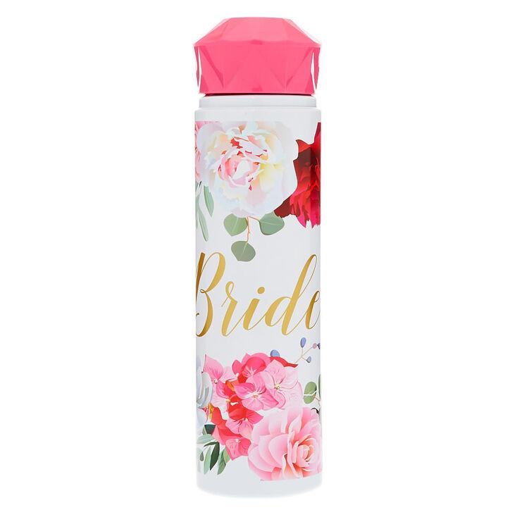 Bride Floral Water Bottle - Pink,