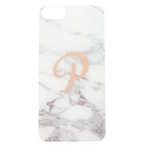 "Marbled ""P"" Initial Phone Case,"