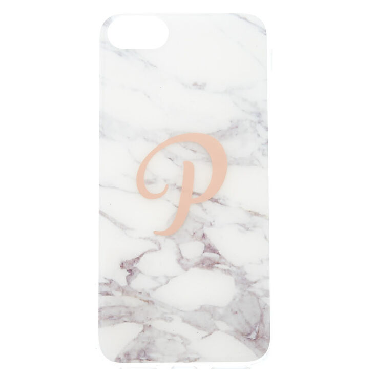 "Marble ""P"" Initial Phone Case,"