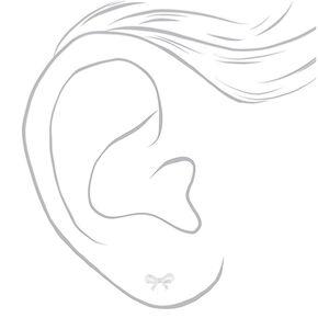Sterling Silver Bow Stud Earrings,