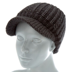 Knit Cabby Hat - Black,