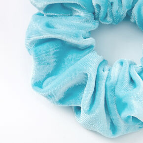 Medium Velvet Hair Scrunchie - Aqua,