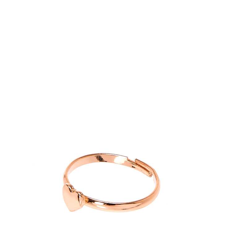 Rose Gold Heart Ring,
