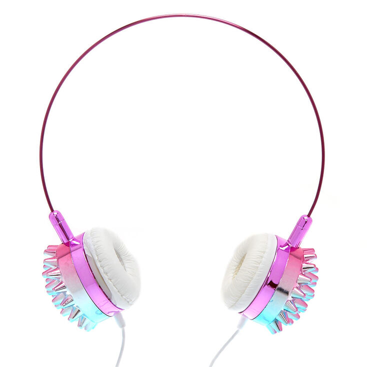 Holographic Spiked Headphones,